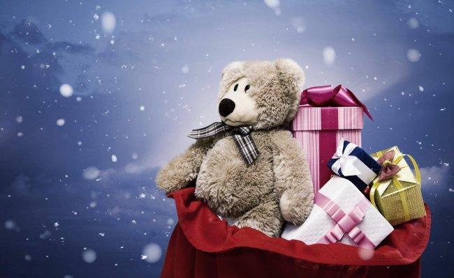 Мешок с новогодними подарками