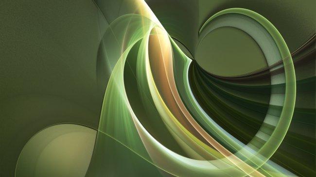 Волнообразные линии на зеленом фоне