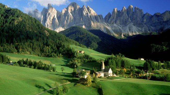 Валь-ди Фунес Доломиты Италия