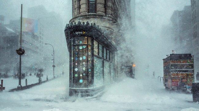 Метель в Нью-Йорке