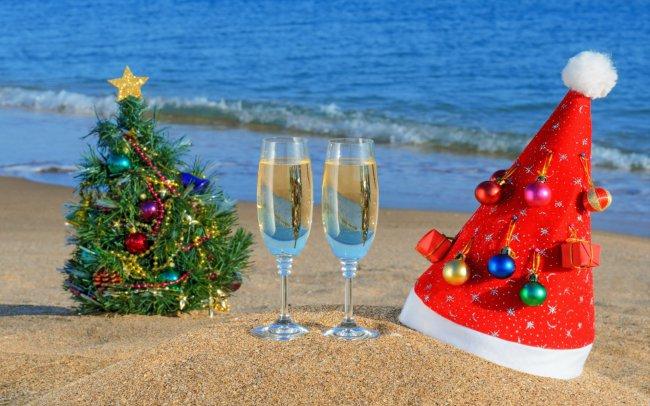 Встреча Нового года на море