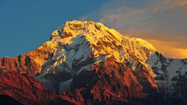 Горная цепь Аннапурна в Непале