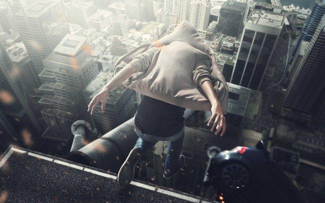 Прыжок с крыши небоскреба