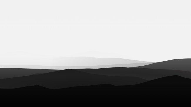 Черно-белые горы
