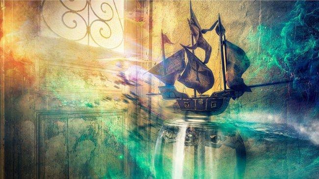 Статуэтка парусного корабля