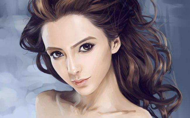 Портрет девушки с выразительными глазами