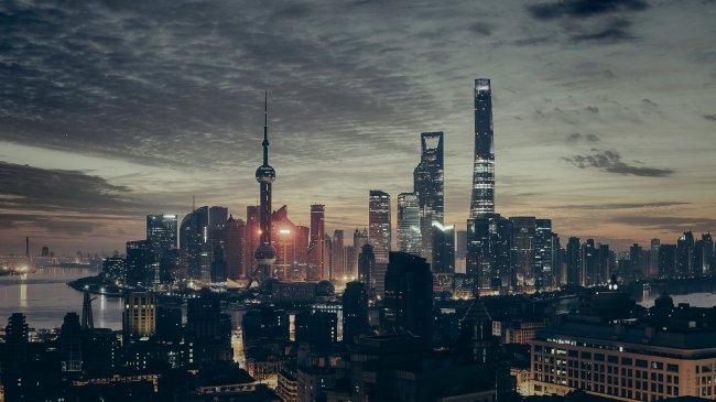 Шанхай город в Китае