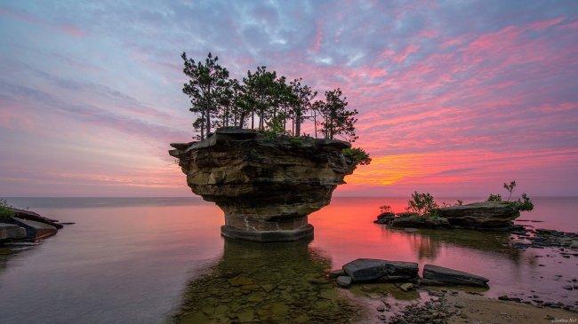 Озеро Гурон в Северной Америке, США