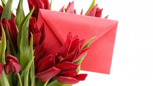 Цветы и письмо