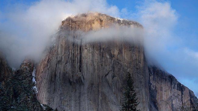 Скалистый утес в Йосемитском национальном парке
