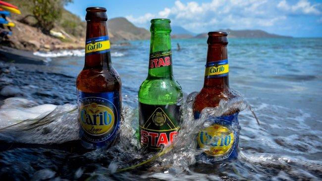 Реклама разного пива Carib Brewery