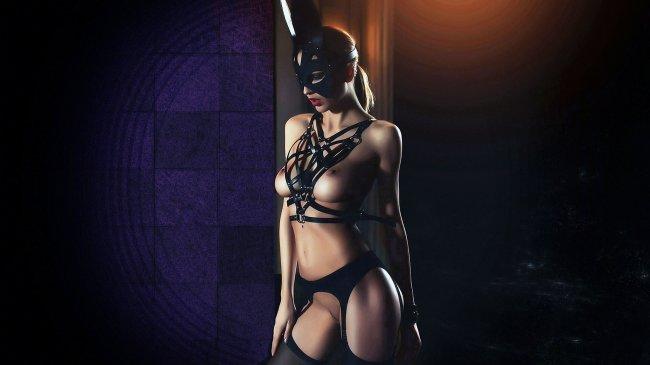 Девушка в эротическом костюме