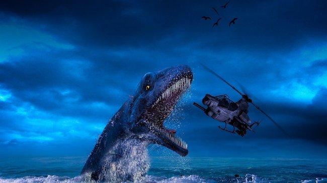 Вертолет в пасти динозавра