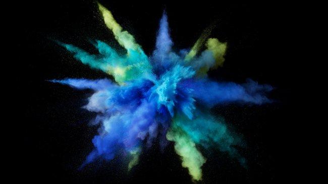 Цветной всплеск красок