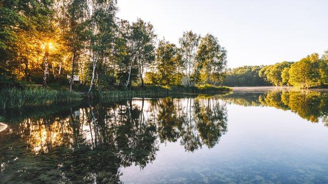 Озеро Чеховице, Силезия, Польша