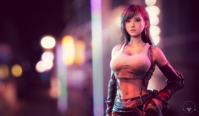 Арт Tifa Lockhart к игре Final Fantasy VII