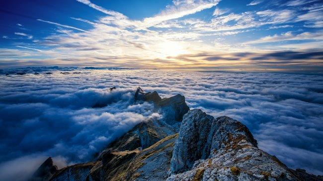 Гора Зентис в Швейцарии