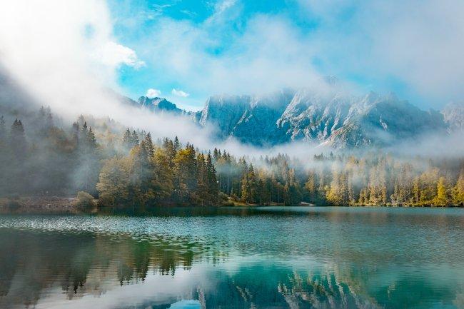 Озеро Фузине, Тарвизьо, Италия