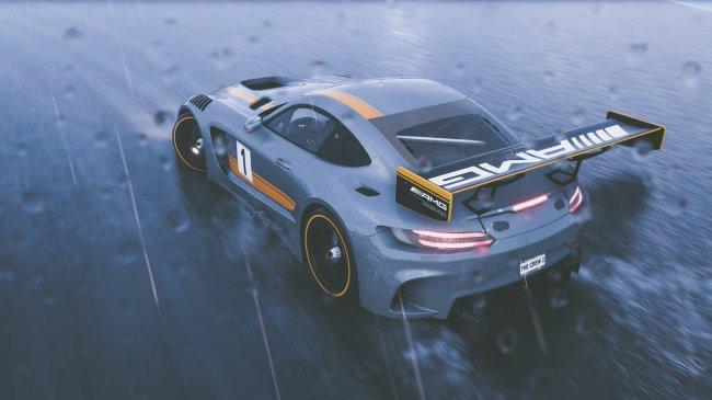 Mercedes AMG GTR арт к игре The Crew 2