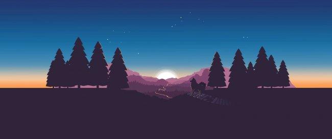 Арт леса к игре Firewatch