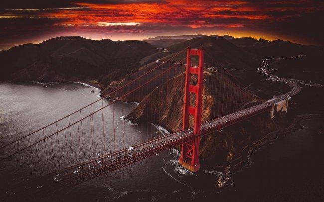 Мост Золотые ворота Сан-франциско, Калифорния
