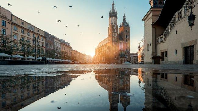 Мариацкий костел в городе Краков, Польша