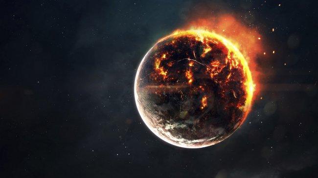 Пылающая планета