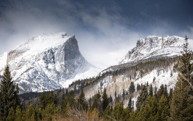 Горная вершина Холлетт Пик в Колорадо