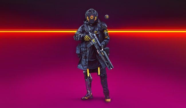 Футуристический солдат