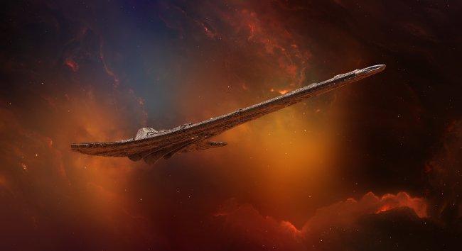 Арт космического корабля к игре Destiny