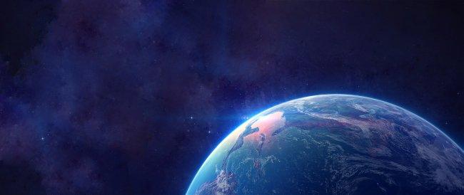 Планета Земля на космическом фоне