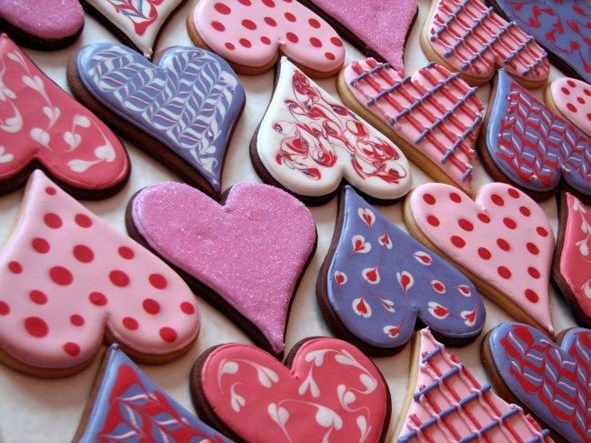 Печенья в форме сердца