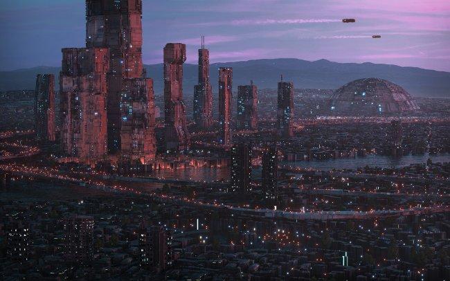 Футуристичный город