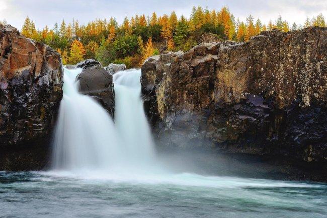 Водопад в плато Путорана, Красноярский край, Россия