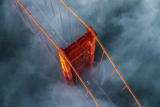 Висячий мост Золотые Ворота в Сан-Франциско, США