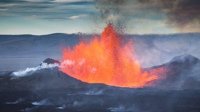 Извержение вулкана Холухрейн, Исландия