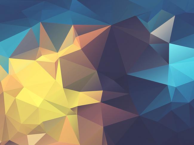 Полигональный цветной фон