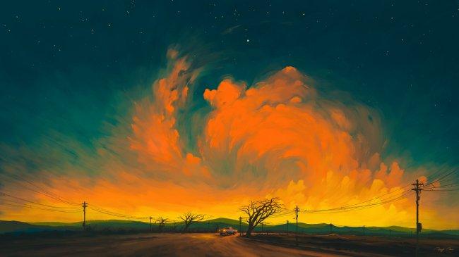 Wavy Clouds by BisBiswas