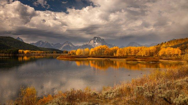 Осенний национальный парк Гранд-Титон, США